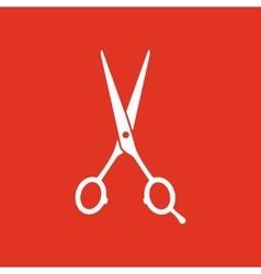 The hairdressing scissors icon Barbershop symbol vector