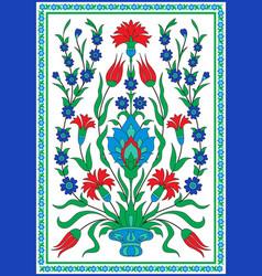 turkish floral design vector image
