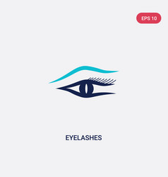 Two color eyelashes icon from gestures concept vector