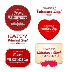 Valentines labels vector