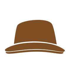 vintage hat fashion vector image