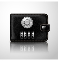 Wallet locked with combination code vector