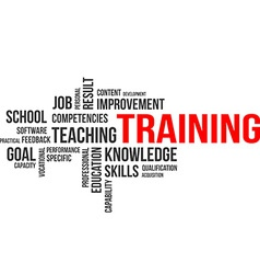 word cloud training vector image