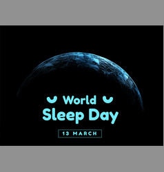 world sleep day event that takes place vector image