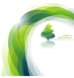 Abstract background with shiny Christmas tree vector image vector image