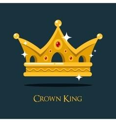 Blinking shiny king golden crown or crest vector image