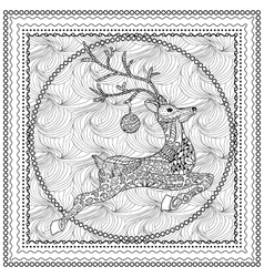 Hand Drawn of Jumping Deer vector image vector image