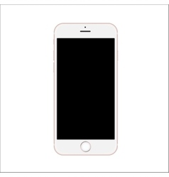 New version of slim smartphone with blank black vector image vector image