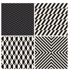 pattern background set retro vintage vector image