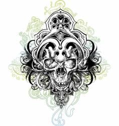 Warrior skull illustration vector