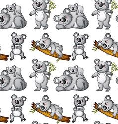 Seamless koala vector image vector image