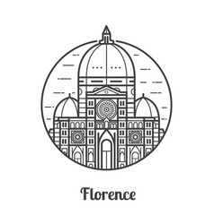 travel florence icon vector image vector image