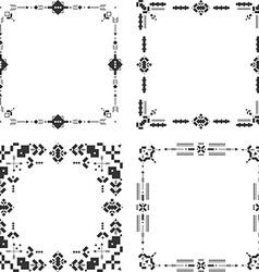 Tribal frames ethnic border aztec stile tribal art vector image