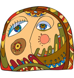 Abstract Face vector image vector image