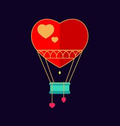 Balloon in the shape of heart vector