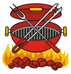 barbeque grill vector image vector image