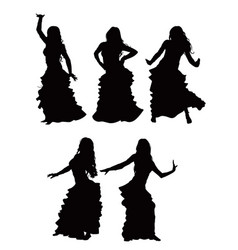 bellydance silhouette vector image vector image
