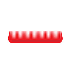 comb hair icon isolated style brush barber female vector image
