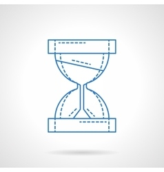 Hourglass blue line icon vector image vector image