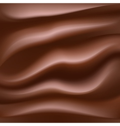 melting creamy chocolate vector image