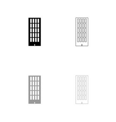 sky tower building black and grey set icon vector image vector image