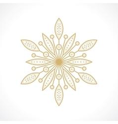 symbol flower vector image vector image