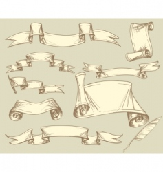 vintage banner collection vector image