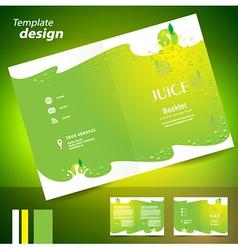 brochure folder juice fruit drops liquid fruit vector image vector image