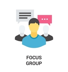 focus group icon vector image