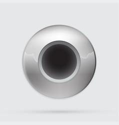 gray metallic button minimalistic style vector image