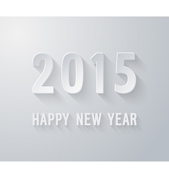 Happy new year 2015 paper postcard vector image vector image