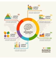 Infographic Round with Chart and Diagram vector image