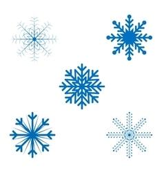 Openwork Christmas snowflakes in format vector image vector image