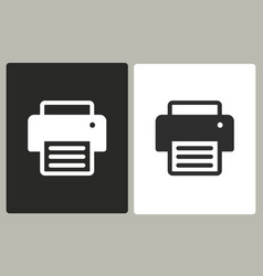 printer - icon vector image