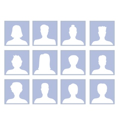 set with avatar icons vector image vector image