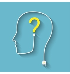 silhouette with question vector image