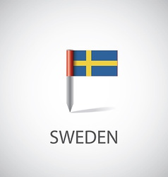 sweden flag pin vector image vector image