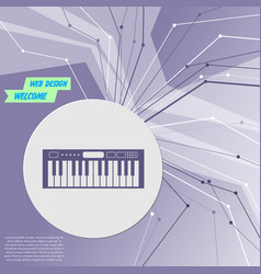 synthesizer icon on purple abstract modern vector image