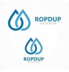 Water drop icon or logo vector image