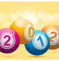 3d new year bingo balls vector image