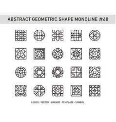 Abstract geometric shape monoline 60 vector