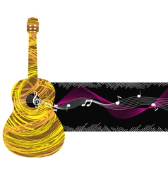 Abstract guitar vector