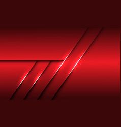 Abstract red metallic overlap line shadow design vector