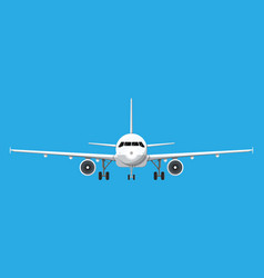 airplane front view vector image