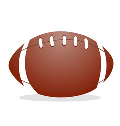american football ball isolated in flat design vector image