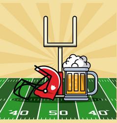 american football bowl tournament vector image