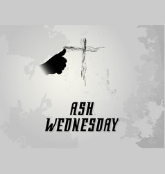 Ash wednesday abstract vector