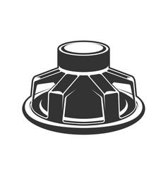 Audio speaker icon subwoofer speaker for car vector