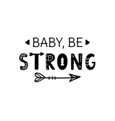 babe strong inspirational hand lettering vector image