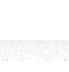 background with contours of houses from black vector image